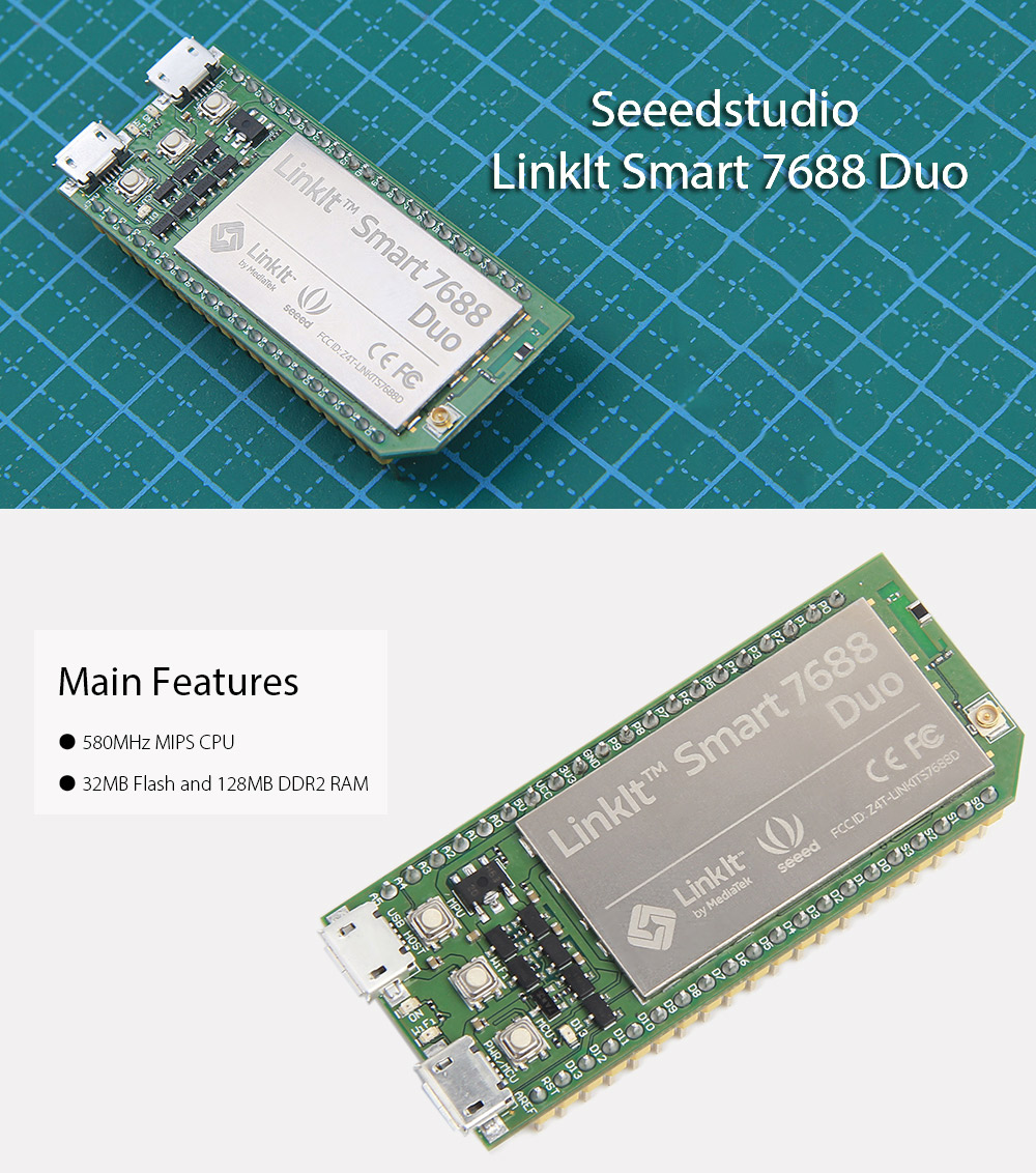 DIY Seeedstudio LinkIt Smart 7688 Duo Open Development Board