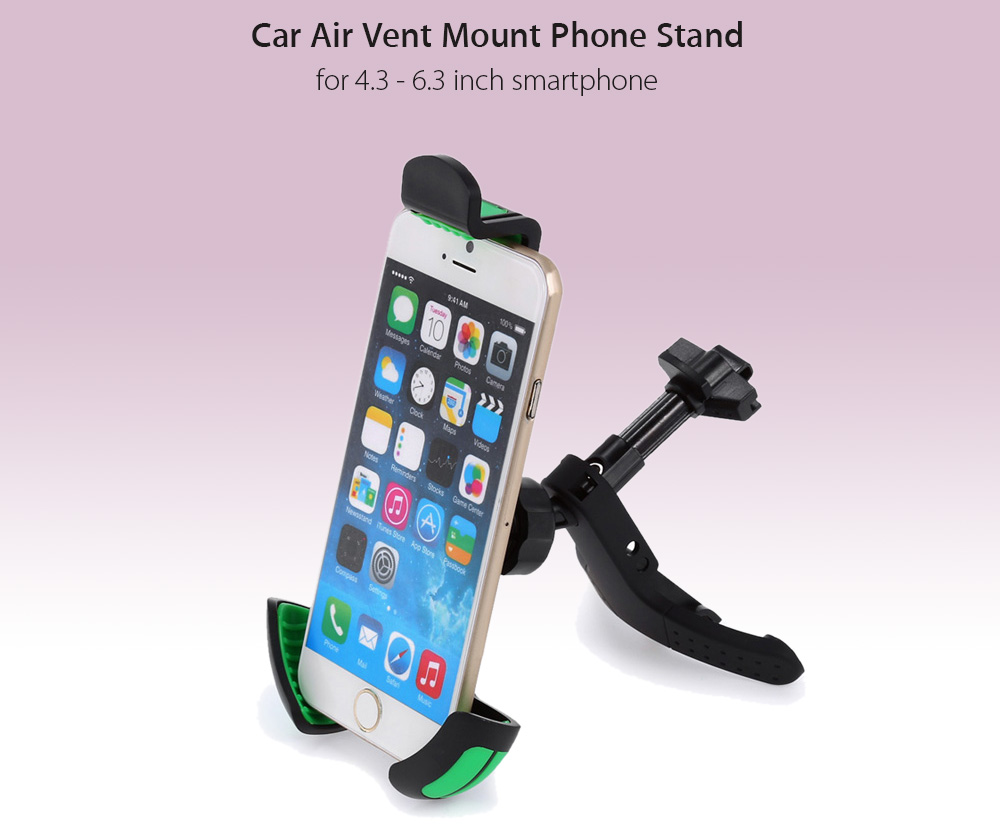 Excelvan universal air vent magnetic car cellphone mount holder  black