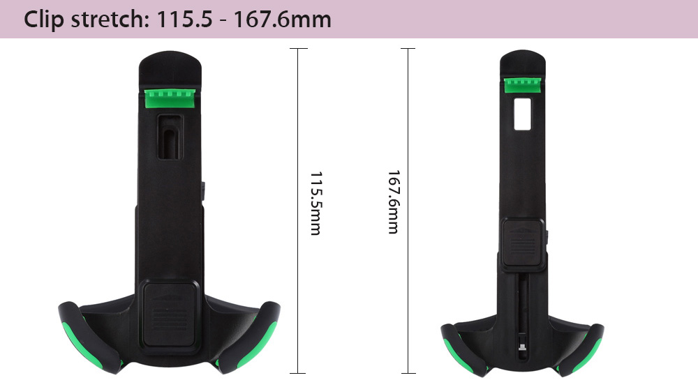 KF81A Car Air Vent Mounted Mobile Stand Holder with 360 Degree Rotation for 4.3 - 6.3 inch Smartphone