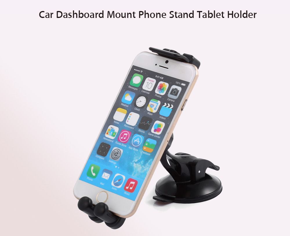 KF86 Car Mounted Dashboard Windshield Sucker Mobile Stand Tablet Holder with 360 Degree Rotation