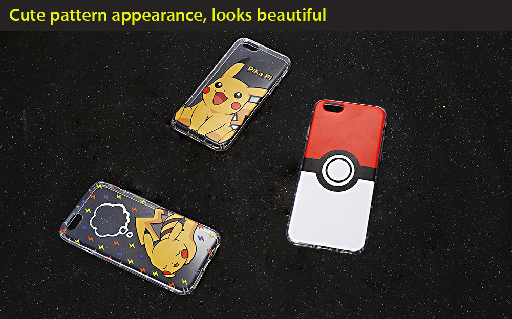 Cartoon Pattern Transparent Style Protective Case for iPhone 6 Plus / 6S Plus Ultra-thin TPU Soft Mobile Shell