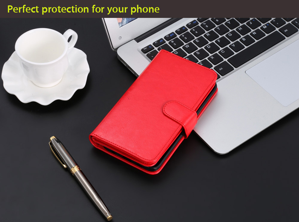 Crazy-horse PU Leather Wallet Protective Case for Samsung Galaxy S6 Edge Full Body Mobile Shell with Card Slots Lanyard
