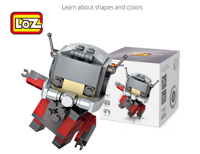 LOZ ABS Cartoon Figure Building Block Educational Movie Product Kid Toy - 153pcs