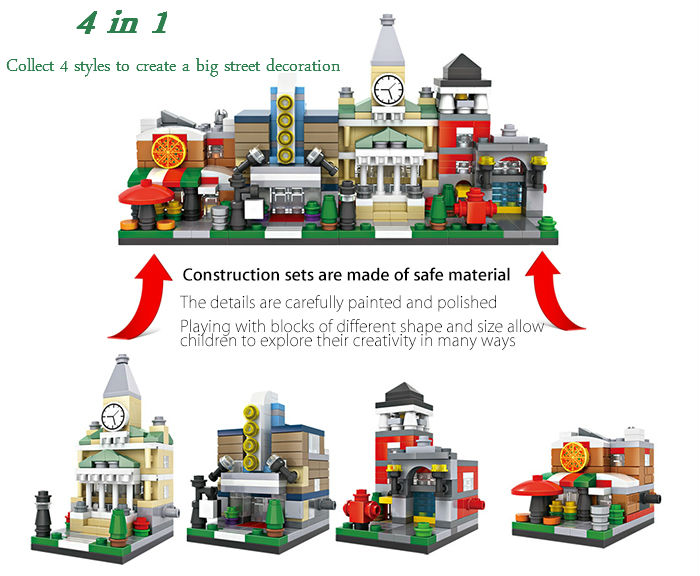 LOZ ABS Theater Architecture Building Block Educational Movie Product Kid Toy - 146pcs