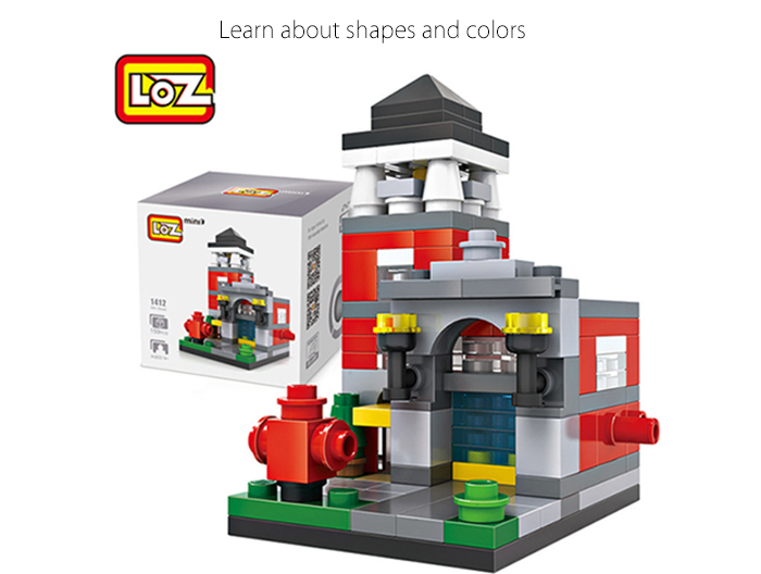 LOZ ABS Street View Architecture Building Block Educational Movie Product Kid Toy - 159pcs