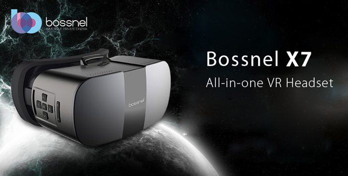 Bossnel X7 All-in-one 2K VR Virtual Reality 3D Headset WiFi Connection 96 Degree FOV 75Hz Refresh Rate