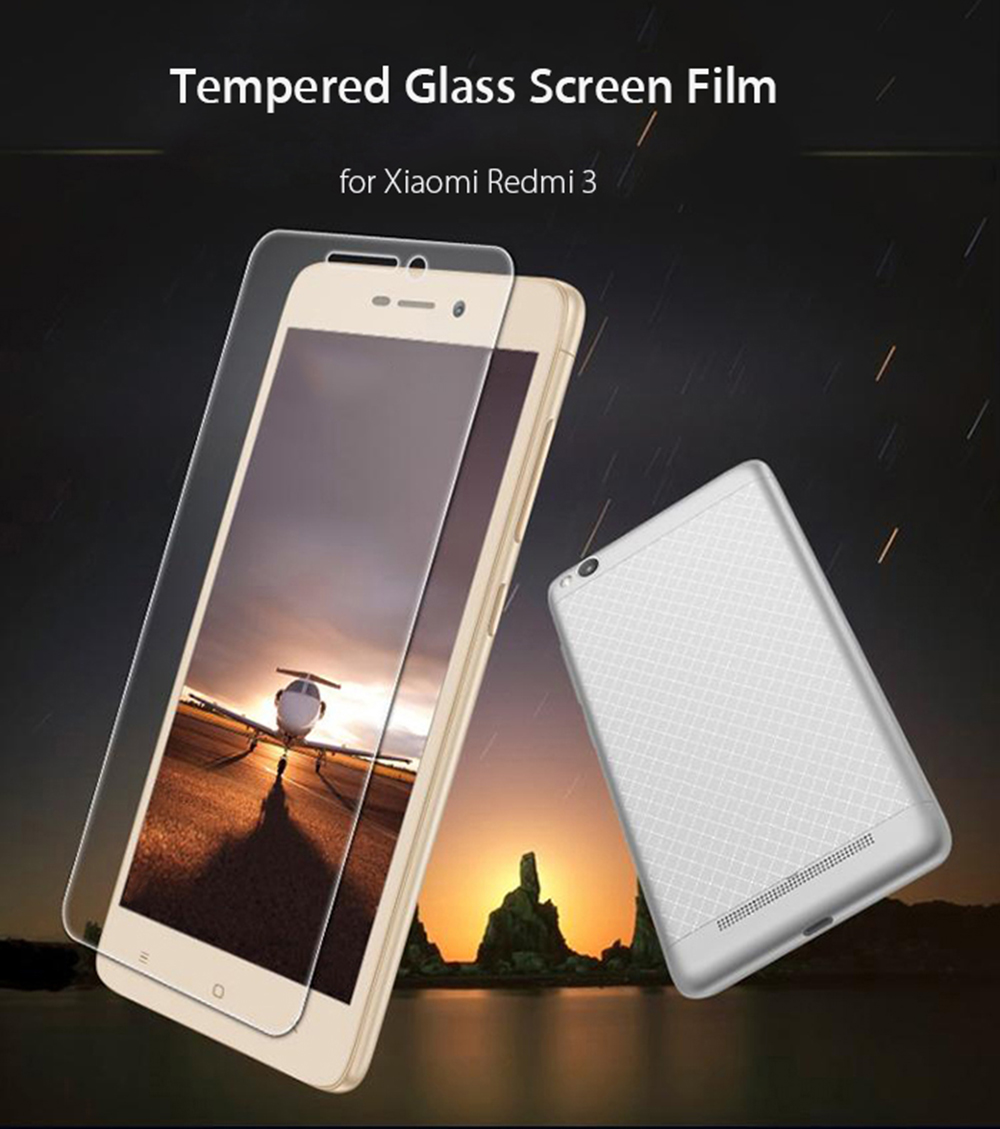 Luanke Tempered Glass Screen Protective Film for Xiaomi Redmi 3 / 3 Pro / 3S 0.26mm 2.5D 9H Explosion-proof Membrane