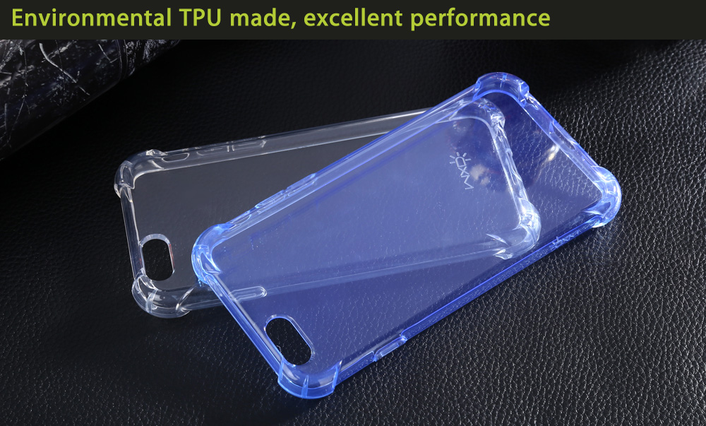 WXD Transparent TPU Soft Protective Case Nano Tempered Glass Screen Film for iPhone 6 / 6S
