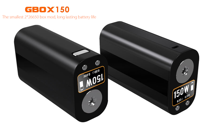 Original Geekvape GBOX 150 TC Box Mod with 1 - 150W / 200 - 600F / Dual 26650 Batteries Supportive for E Cigarette