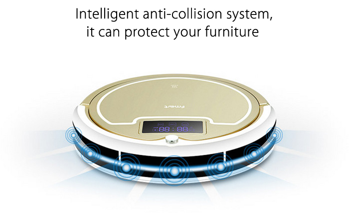 FMART E - R300G Smart Robotic Vacuum Cleaner Cordless Sweeping Cleaning Machine Self-recharging Timing Function Automatic Mop