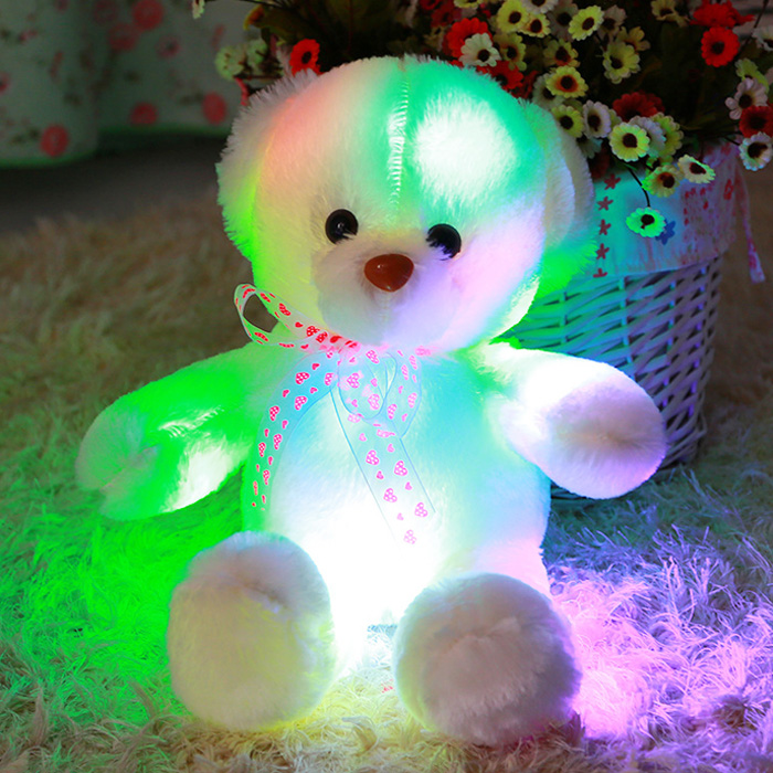 50cm / 20 inch Stuffed Cartoon Bear Toy Home Decoration Valentine Gift with Light