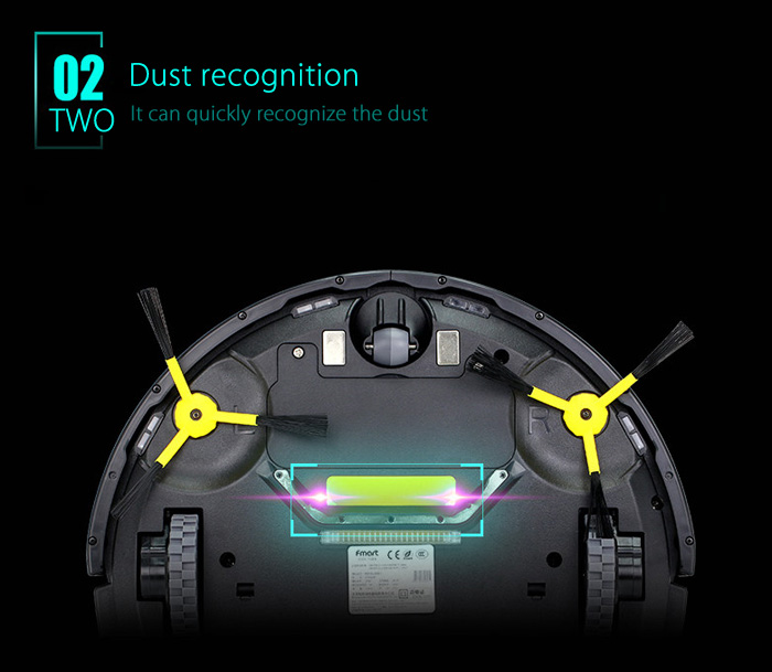 Fmart E - R310A Smart Robotic Vacuum Cleaner Cordless Sweeping Cleaning Machine Self-recharging Timing Function Automatic Mop