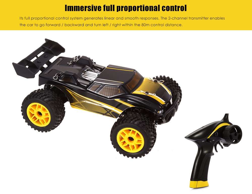 GPTOYS S607 26km/h 1:24 Full Proportional 2CH 2.4GHz 4WD Brushed RC Racing Car