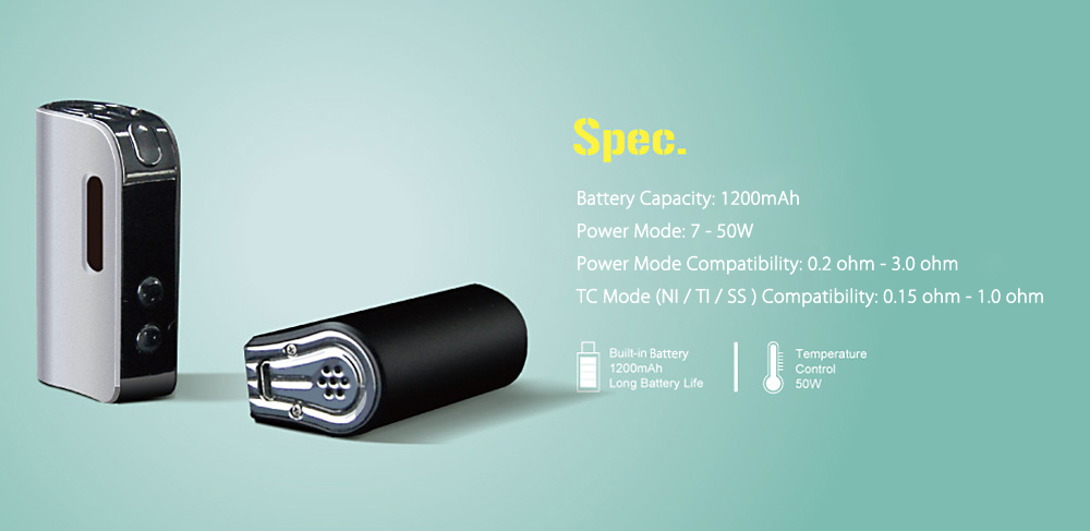 Оригинал Smokjoy AIR 50 1200mAh TC бок мод