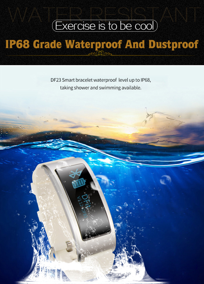 DF23 Heart Rate Monitor Smart Wristband with Sleep Track Pedometer