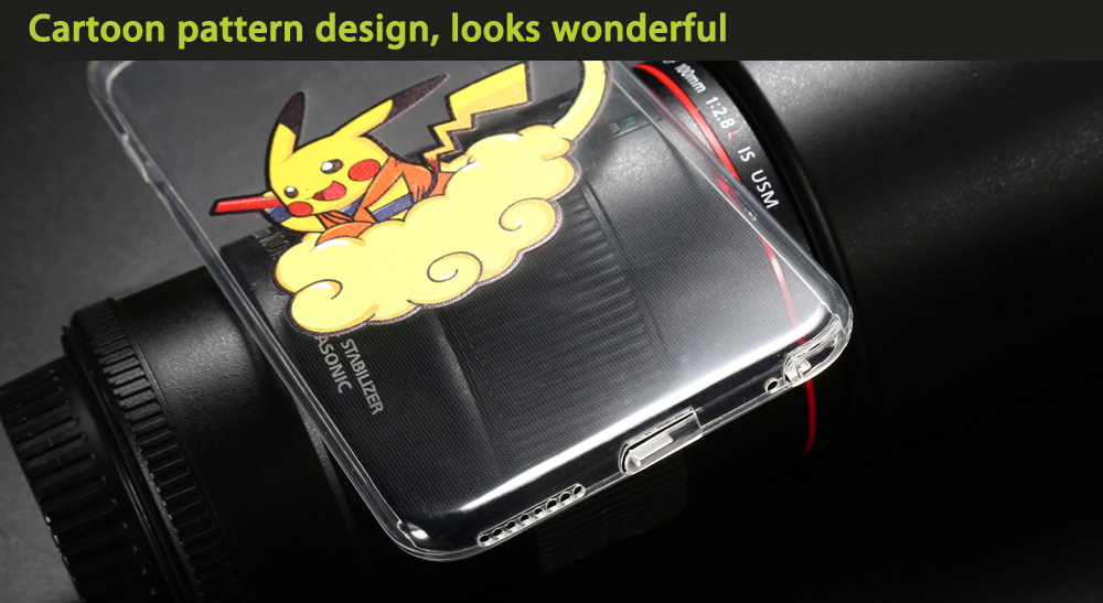Cartoon Pattern Transparent Protective Phone Case for iPhone 6 / 6S Ultra-thin TPU Soft Mobile Shell