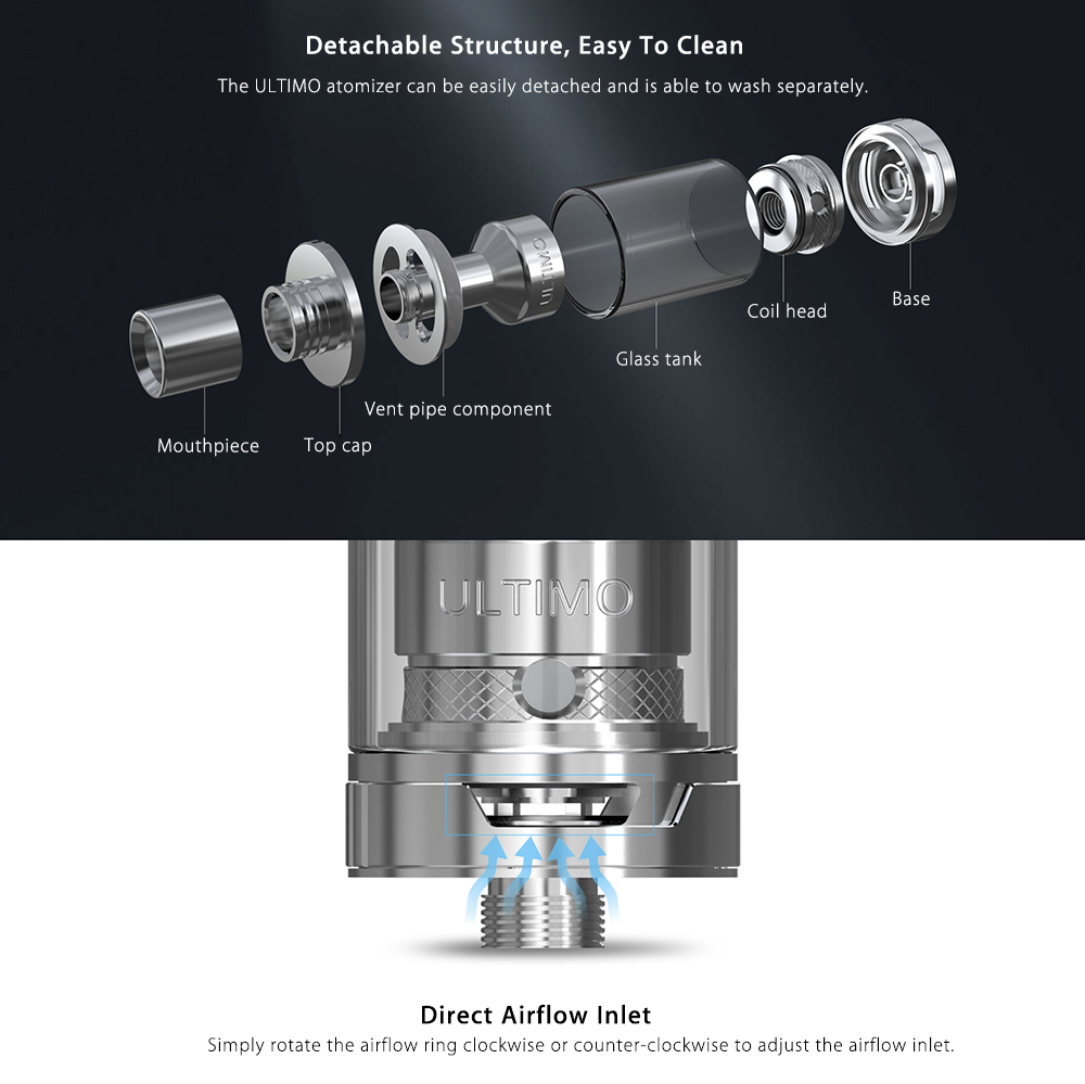 Original Joyetech eVic VTC Dual Kit with 1 - 75W / 150W / 200 - 600F / Single or Dual Replaceable Battery / 4ml / 0.5 ohm Ultimo Clearomizer for E Cigarette