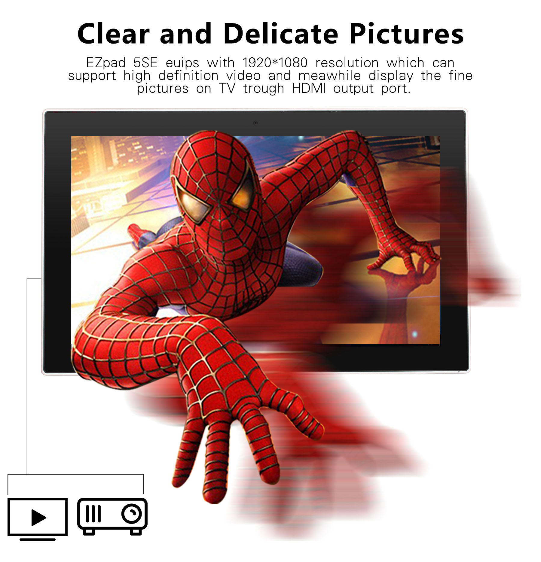 Jumper EZpad 5SE Tablet PC Windows 10 10.6 inch IPS Screen Intel Cherry Trail Z8300 Quad Core 1.44GHz 4GB RAM 64GB ROM Bluetooth 4.0 Dual Cameras