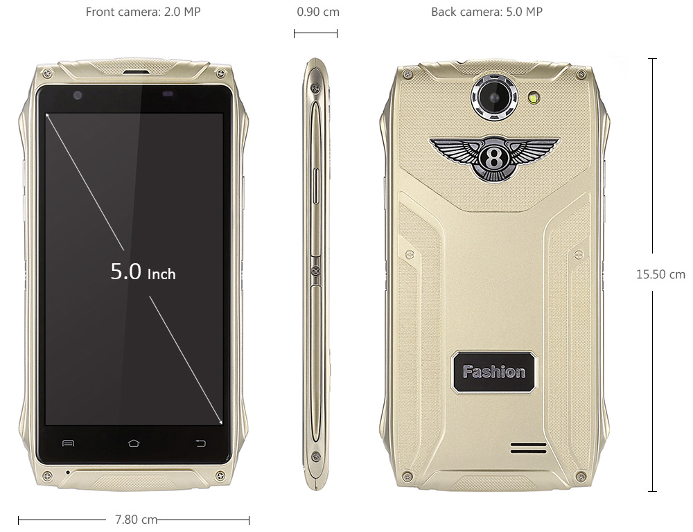 X350 Android 5.1 5.0 inch 3G Smartphone MTK6580 Quad Core 1.2GHz 512MB RAM 8GB ROM Bluetooth 4.0 Gravity Sensor GPS