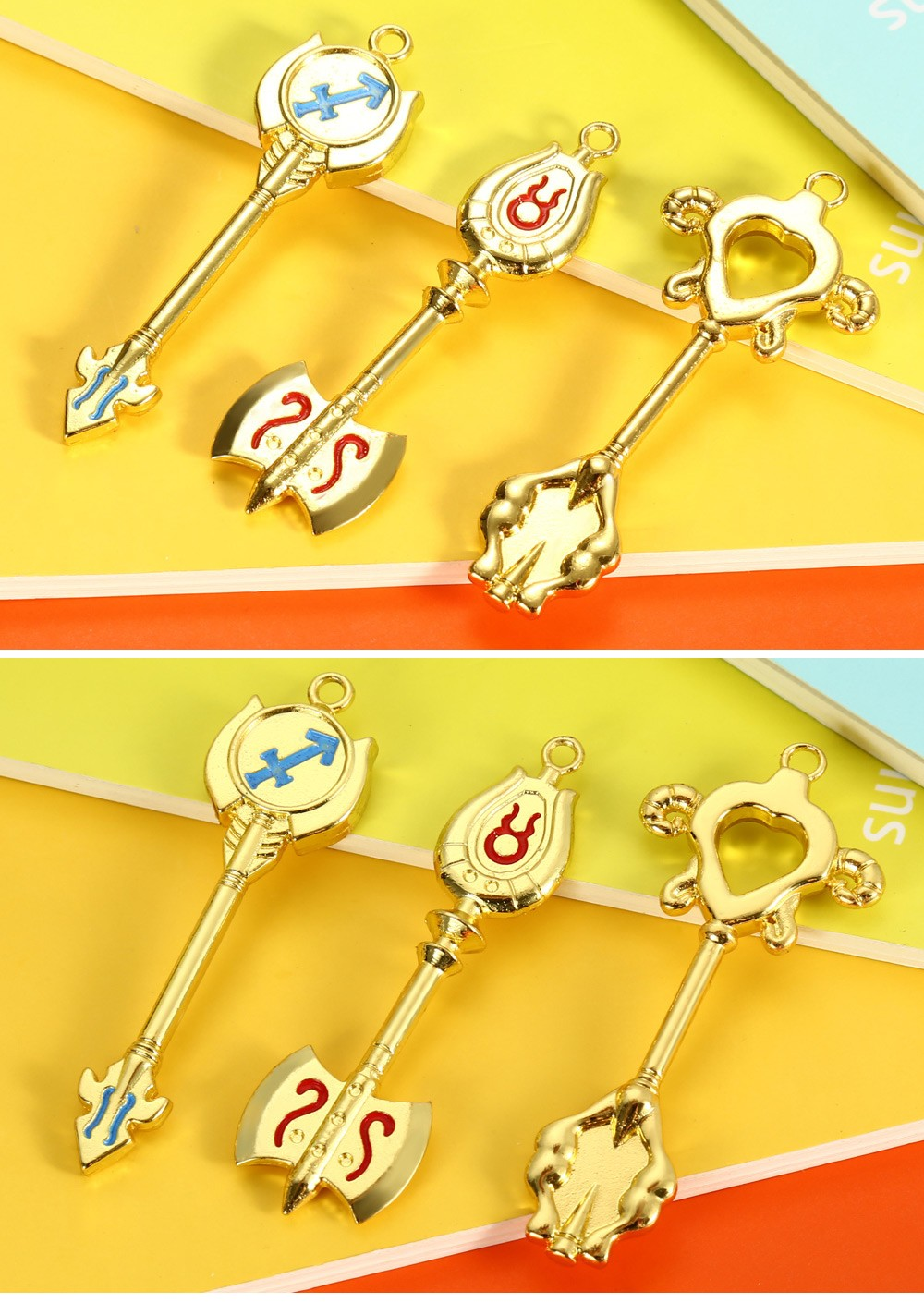 Key Chain Hanging Pendant Keyring Movie Product for Decoration - 18pcs / set