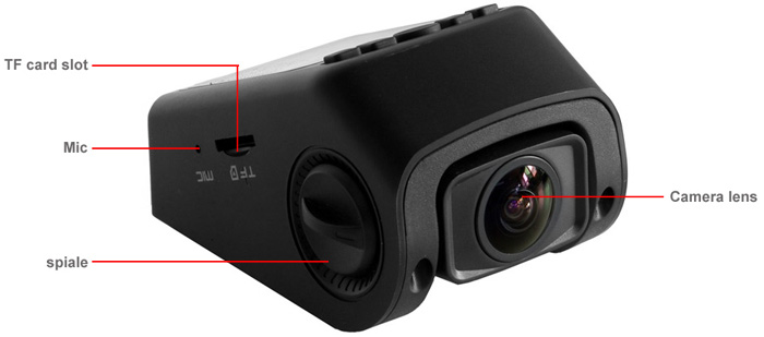 A118C 1.5 inch Novatek 96650 H.264 1080P Safe Capacitor Car DVR Dash Cam Video Recorder 170 Degree Wide Angle Lens Support AV Out Hidden Mode