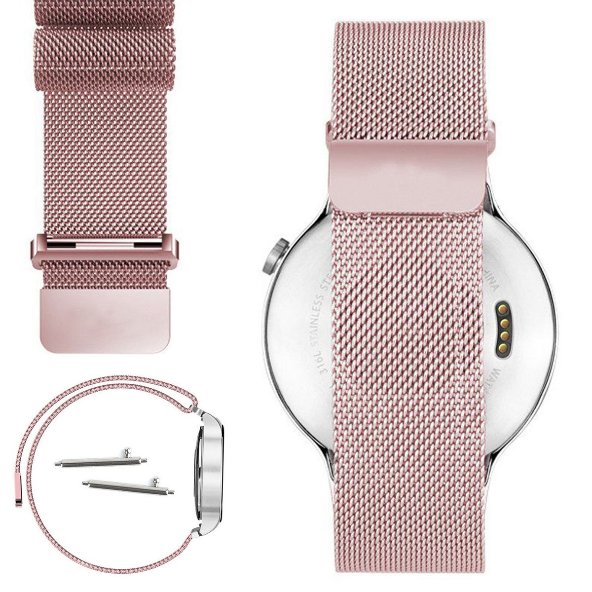 Milanese Stainless Steel Net Band for HUAWEI Smart Watch