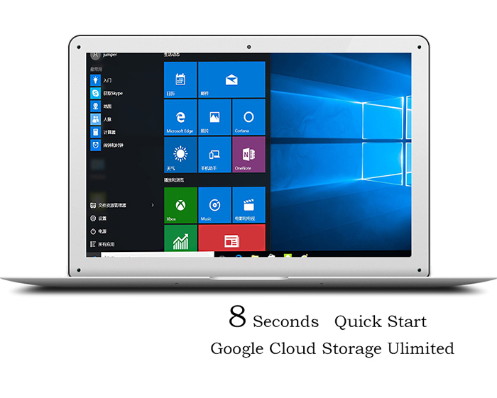 YEPO 737S Notebook 13.3 inch Windows 10 Intel Bay Trail Z3735F 1.33GHz Quad Core 2GB RAM 32GB eMMC Bluetooth 4.0