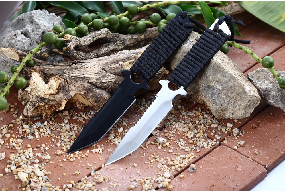 Outdoor Fixed Blade Knife for Hunting Fishing with Hard Sheath