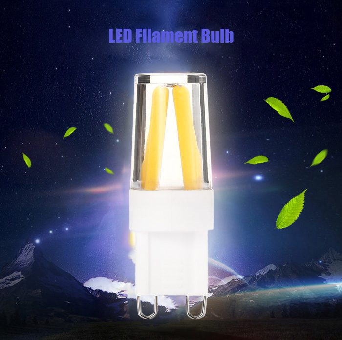 2PCS G9 3W 4 x COB 280 - 400Lm LED Filament Bulb Adjustable Brightness
