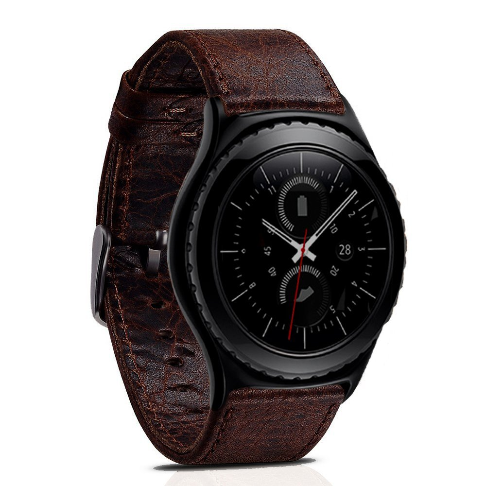 Crazy Horse Leather Band for Samsung Gear S2 Smart Watch