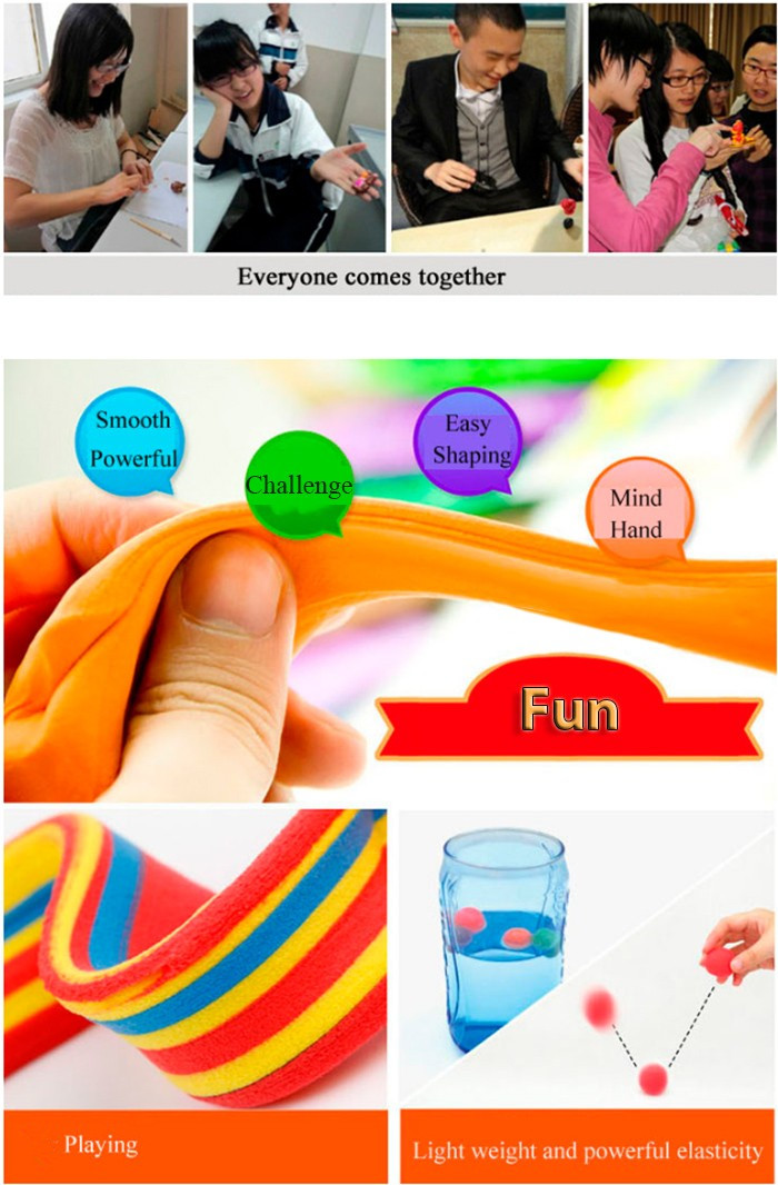 DIY 3D Colored Modeling Clay Intelligence Toy for Reducing Stress