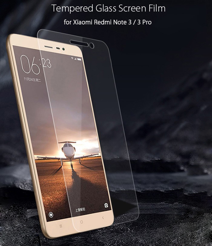 Luanke Tempered Glass Screen Protective Film for Xiaomi Redmi Note 3 / 3 Pro 0.26mm 2.5D 9H Explosion-proof Membrane