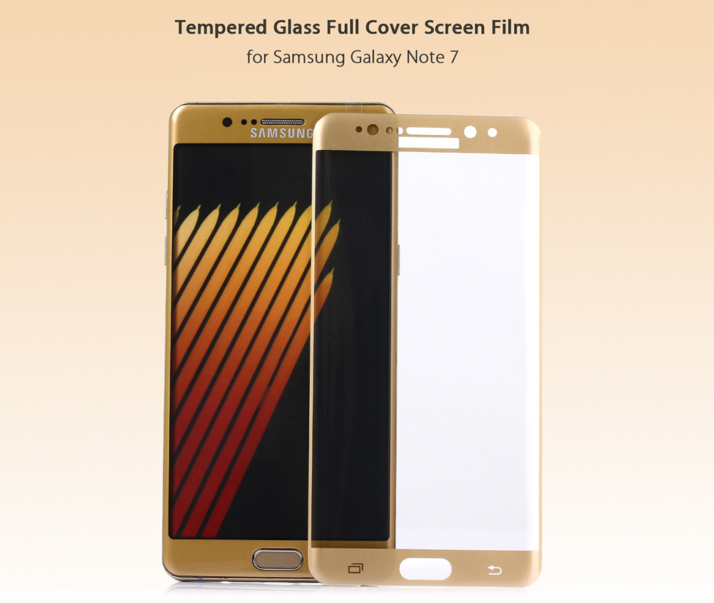 ASLING Tempered Glass Screen Protective Film for Samsung Note 7 0.2mm 9H 3D Arc Edge Full Cover Explosion-proof Membrane