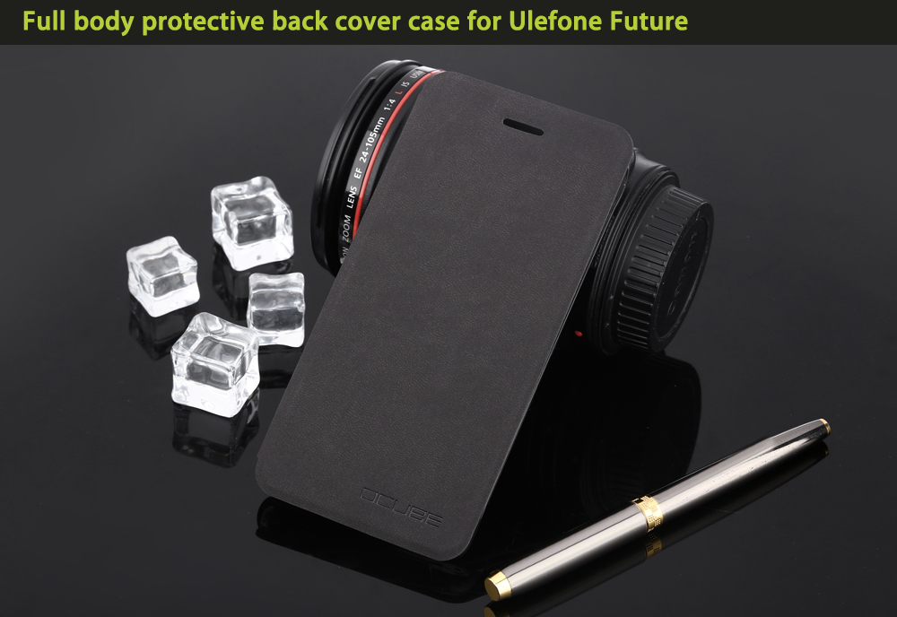 OCUBE PU Leather Full Body Phone Protective Case with Foldable Stand for Ulefone Future