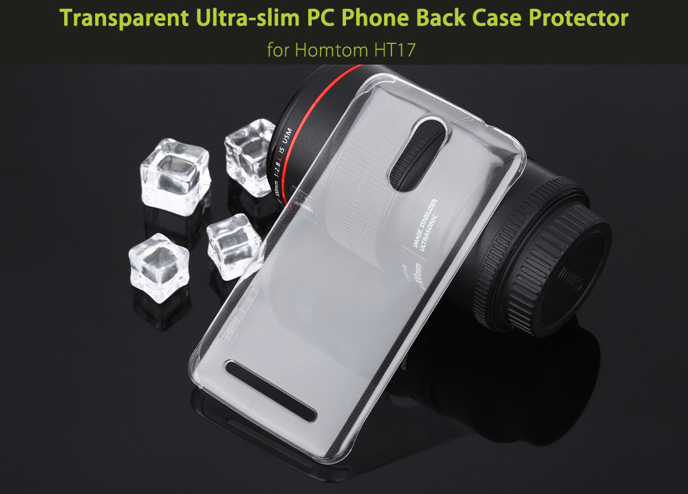 OCUBE Transparent PC Phone Back Case for Homtom HT17 Ultra Thin Mobile Protector