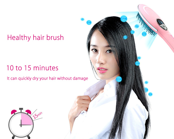 SHOWCHARM SC - 813 Electric Hair Brush Dryer Massage Comb with Anion Care