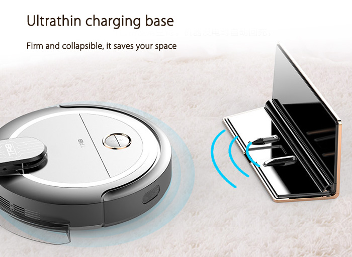 Smart Robotic Vacuum Cleaner Cordless Sweeping Cleaning Machine Self-recharging Timing Function