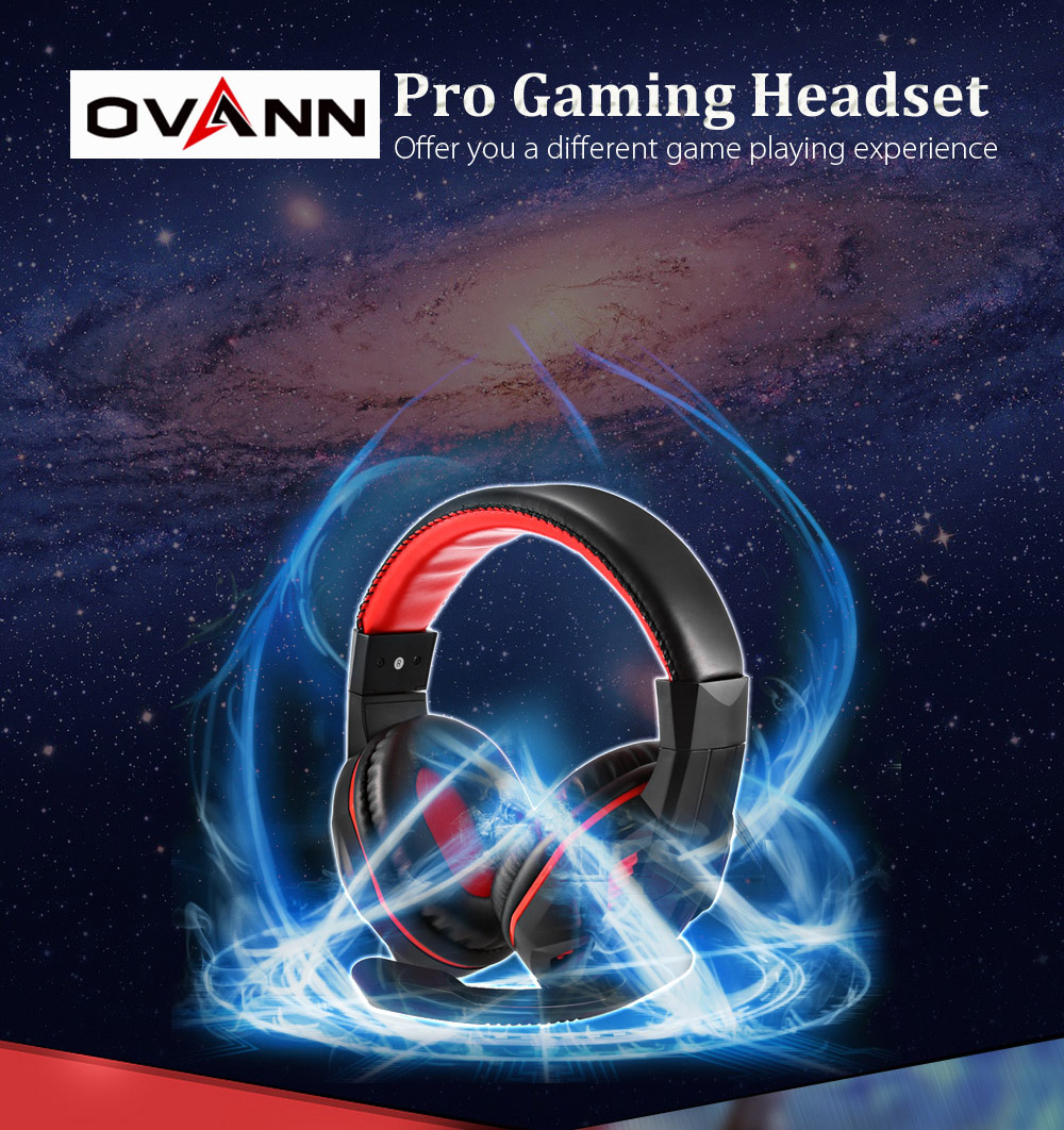 OVANN Wired Gaming Headset with Microphone Over Ear Design Revolution Volume Control