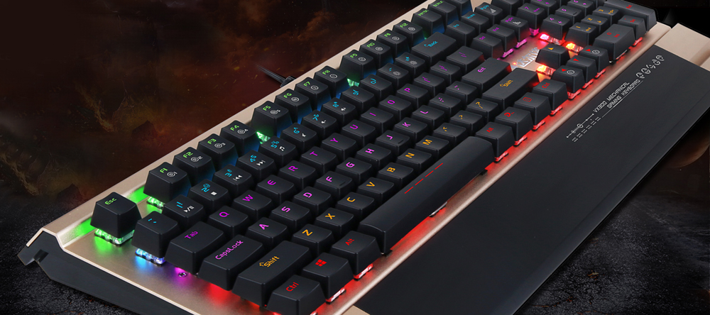 Dare - U VX300 Wired USB Mechanical Keyboard with Floating Keycap / LED Backlit