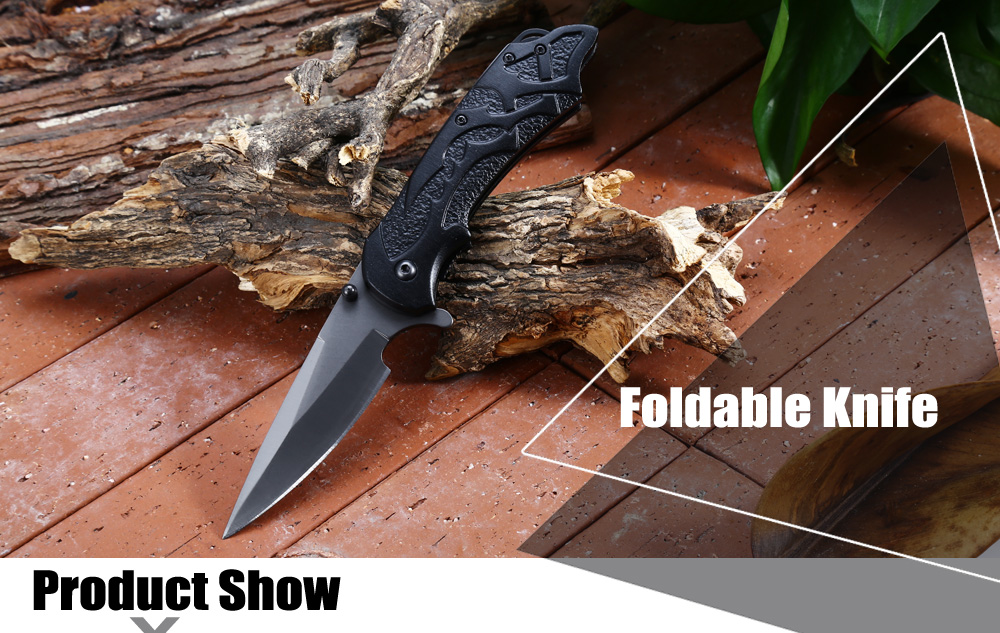 Outdoor Liner Lock Foldable Knife with Ttitanium Coated