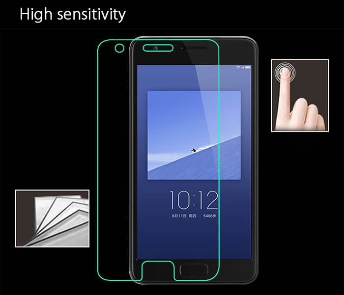 Luanke Tempered Glass Screen Protective Film for Lenovo ZUK Z2 Ultra-thin 0.26mm 2.5D 9H Explosion-proof Membrane