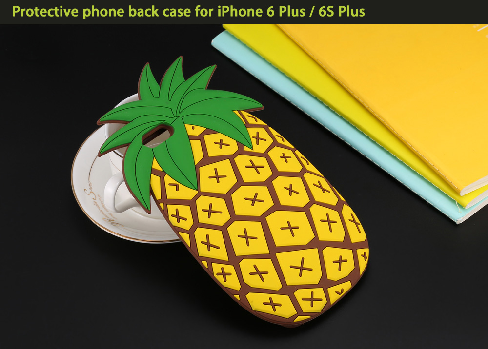 Creative Pineapple Pattern Protective Phone Back Case for iPhone 6 Plus / 6S Plus Silicone Soft Mobile Shell