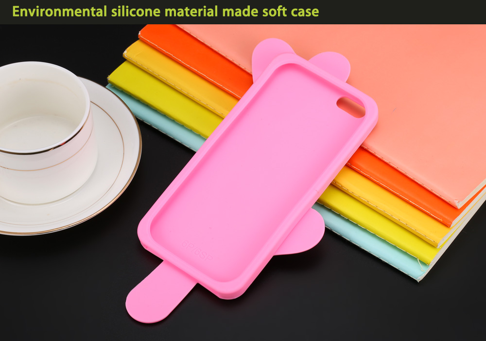 Creative Forzen Sucker Pattern Protective Phone Back Case for iPhone 6 Plus / 6S Plus Silicone Soft Mobile Shell
