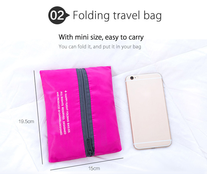 32L Waterproof Folding Bag Lightweight Large Capacity Storage Luggage for Travel