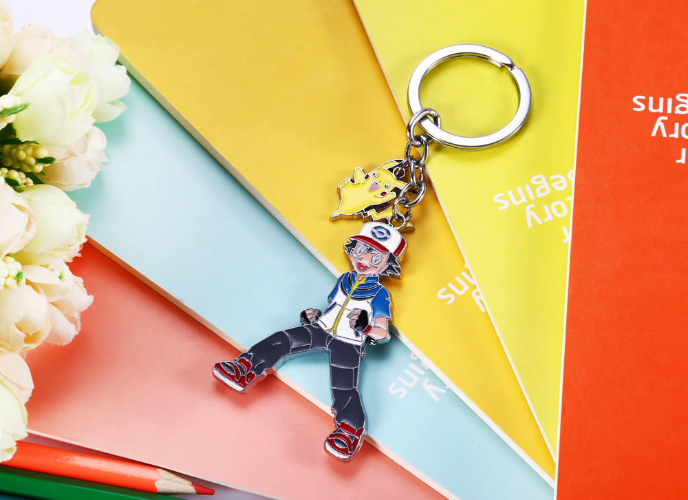 Classic Cartoon Figure Plate Key Chain for Collection