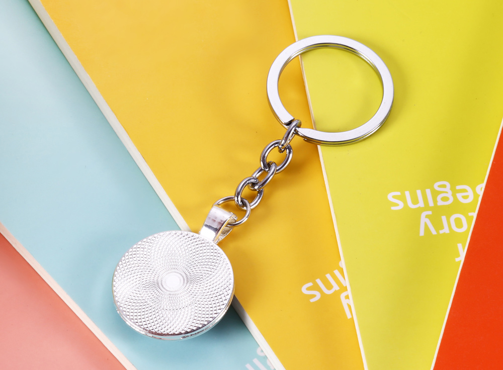 Convex Surface Ball Pattern Key Chain for Collection