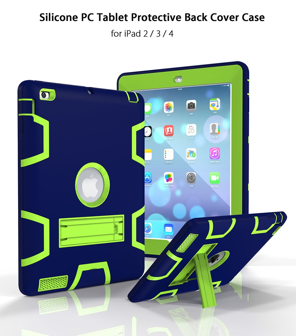 Silicone PC Tablet Protective Back Cover Case with Science Fiction Design for iPad 2 / 3 / 4