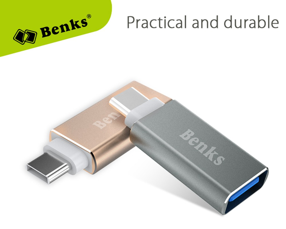 Benks USB 3.0 to Type-C Data Transfer and Charging Adapter