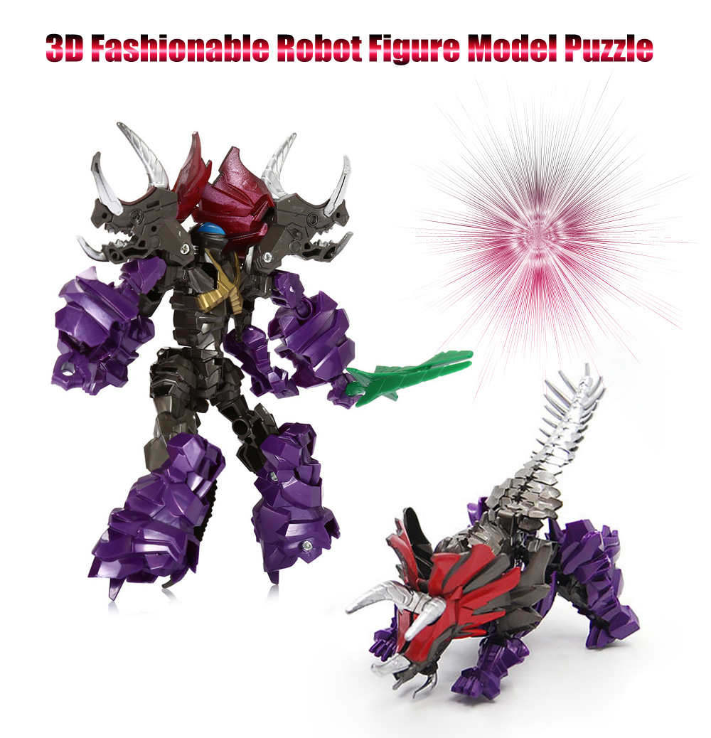 Fashionable Robot Transformation Figure Model Puzzle