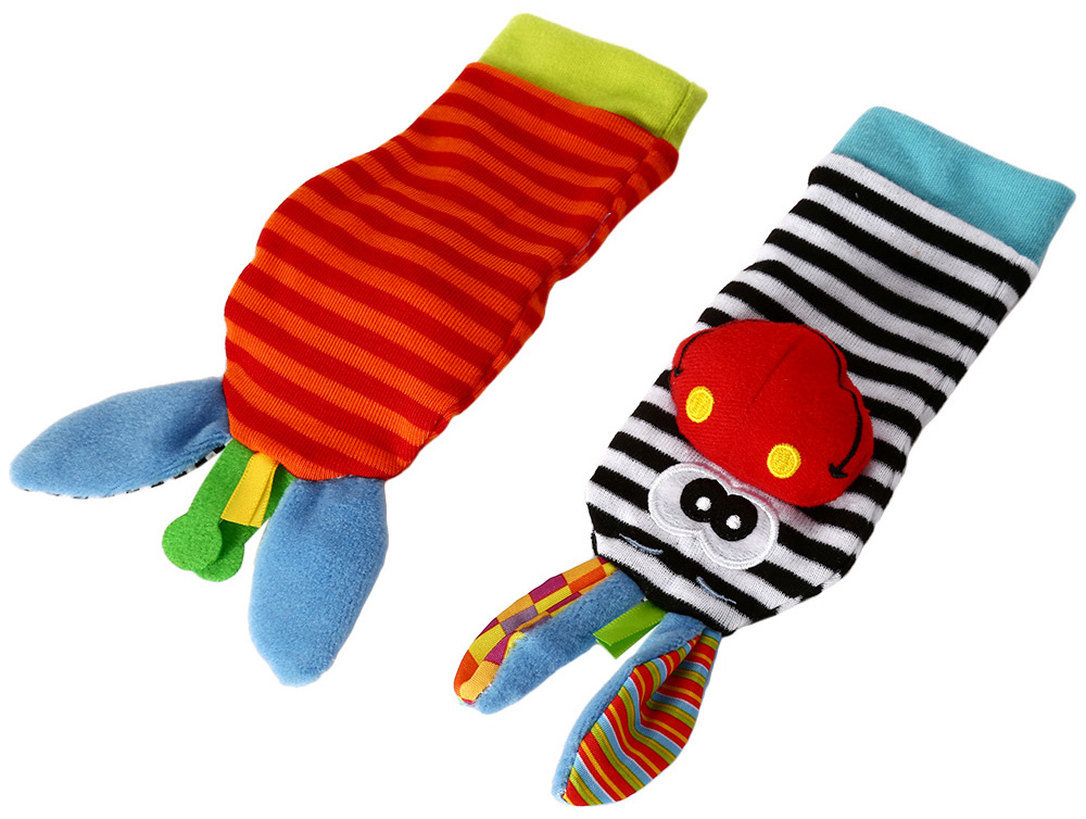 Baby Infant Soft Rattle Sock Foot Finder - 1pair